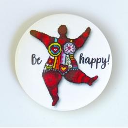 """Needleminder """"Be happy"""""""